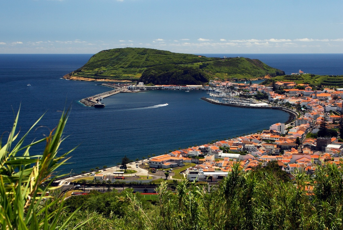 'View to port of Horta on Faial island' - Azoren