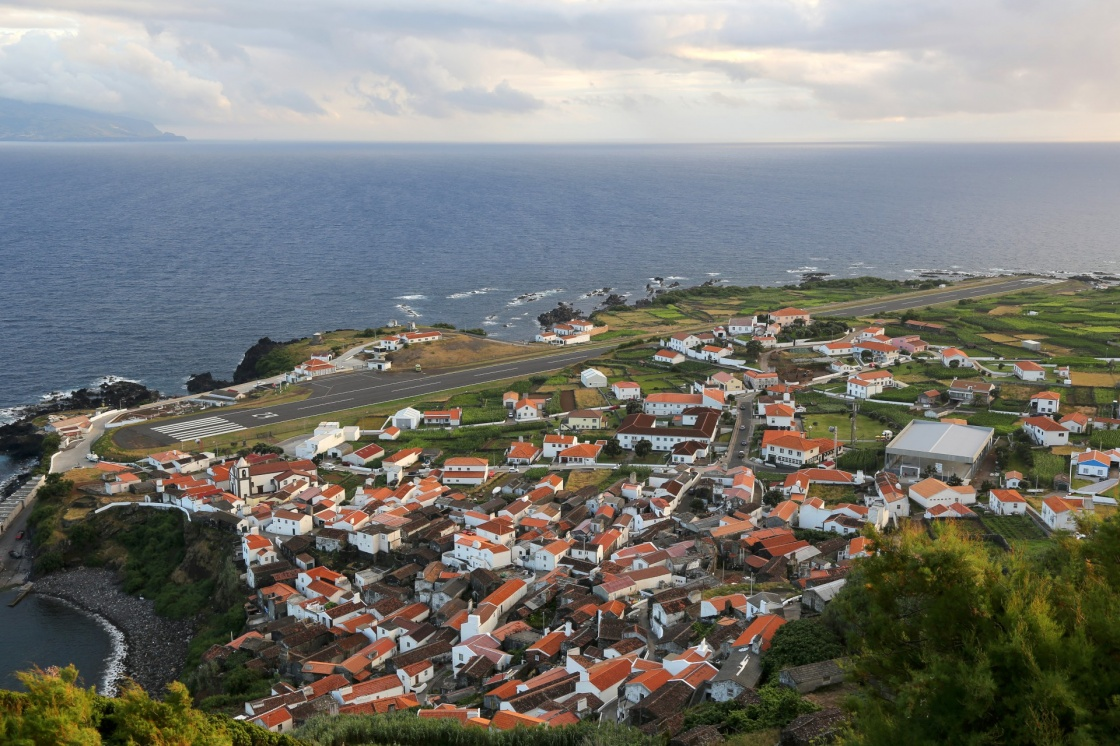 'Panorama of the island of Corvo Azores Portugal' - Azoren
